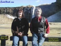Helga og Bjarni vid Seljalandsfoss 1.4 2000